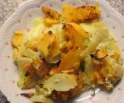 Kartoffel-Kürbis-Gratin, mit oder ohne Fisch  -  RdT am 31.10.2012