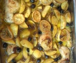 griechisches Zitronen-Knoblauch-Huhn