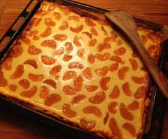 Quark-Mandarinen-Blechkuchen