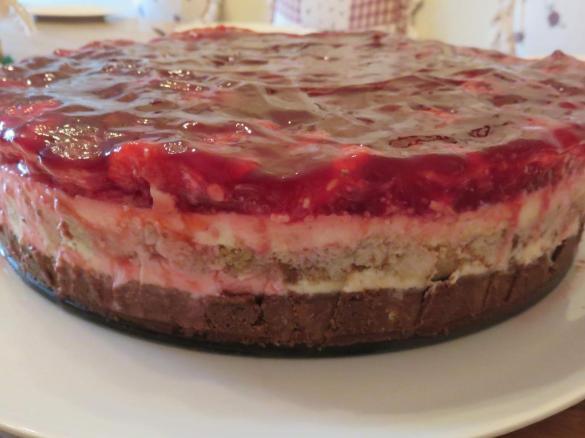 Himbeer Frischkase Torte Ohne Backen Von Mixitrixi Ein Thermomix