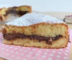 weichen Kuchen mit Nutella