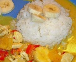 Indisches Huhn mit Banane