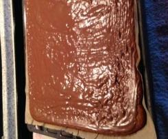 Lebkuchen mit Schokoguß vom Blech