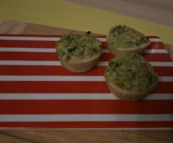 Mini Quiche Flammkuchen-Art