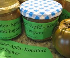 Grüne Tomaten-Apfel- Konfitüre mit Ingwer