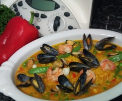 Bejinhas Fisch Paella echt Spanisch