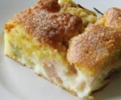 Rhabarberkuchen mit Puddingcreme