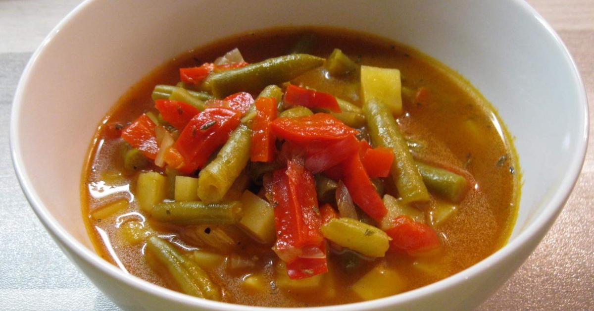 paprika bohnen suppe von emily123 ein thermomix rezept aus der kategorie suppen auf www. Black Bedroom Furniture Sets. Home Design Ideas