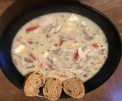 Belgische Championcreme Suppe