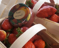 RED COCONUT  Erdbeere Kokosnussmilch Marmelade