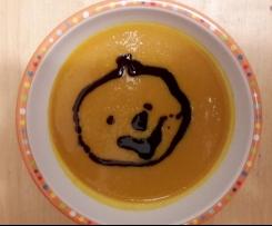 Kürbis-Karotten-Suppe kindertauglich