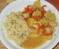 Puten-Ananas-Curry, mild