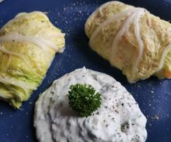 Chinakohl-Rouladen mit Kohlrabi und Karotten