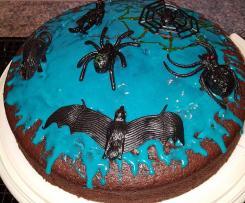 Halloweenkuchen / Schokoladenkuchen