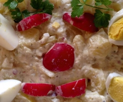 Kartoffelsalat mit Remoulade und Joghurt