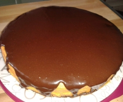 Kürbis-Schoko-Torte mit Zartbitterglasur