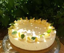 Zitronenmelisse Frischkäse Torte