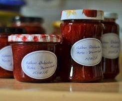 Minze-Erdbeer-Rhabarber-Konfitüre