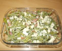 Grüne Bohnen Salat mit Feta Apfel Tomate