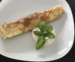 Kräuter Käse Blini/ Kräuter Käse Pfannkuchen mit Quark