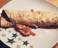 Vegetarischer Tortilla-Wrap-Auflauf