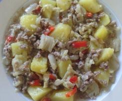 Weisskohl mit Gehacktes und Joghurt