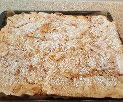 Apfel-Baiser-Blechkuchen