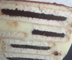 Doppelkeks-Kuchen ohne Backen