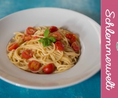 Spagetti Aioli mit Tomaten