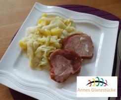 Spitzkohl/Kartoffeln mit Käsesauce