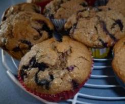 Heidelbeer-Nuß-Marzipan-Muffins mit Nougat