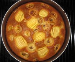 Schneller Apfel-Bananenkuchen