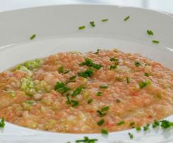 Zucchini-Lachs-Risotto mit Ricotta
