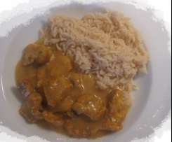 Leckeres Curry-Huhn