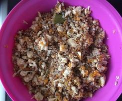 Fleisch mit Reis oder Buchweizen (Plov russisch)