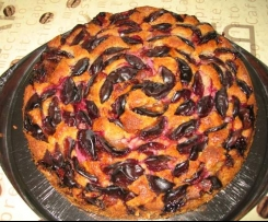 Pflaumenkuchen mit Mandel-Rührteig