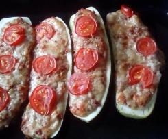 Gefüllte Zucchini (ohne Hackfleisch)