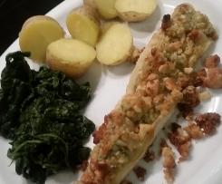 Zanderfilets mit Macadamia-Honig-Kruste
