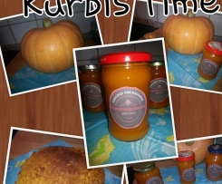 Variation von Herbstmarmelade Kürbis und Co