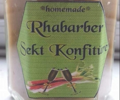 RHARBARBER SEKT KONFITÜRE