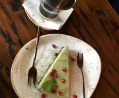 Matcha Cheesecake ohne Backen