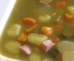 Gemüsesuppe ohne Zwiebeln