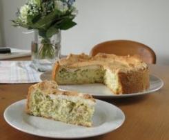 Rhabarberkuchen mit Quark und Baiser - laktosefrei