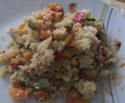 Gemüsecouscous mit Hähnchen