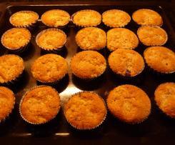 Blaubeer-Baileys Muffins mit Streusel