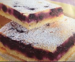 Heidelbeer Quarkkuchen fructosearm