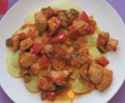 Schnelles Zuchini Paprika Gemüse
