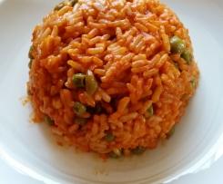 Djuvec Reis - mit Paprikamark und Erbsen