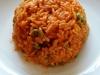 Djuvec Reis - mit Paprikacreme und Erbsen