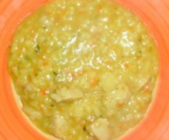 Curry-Puten-Risotto